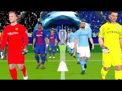 UEFA Champions League 2018 Final - Barcelona vs Manchester City Gameplay