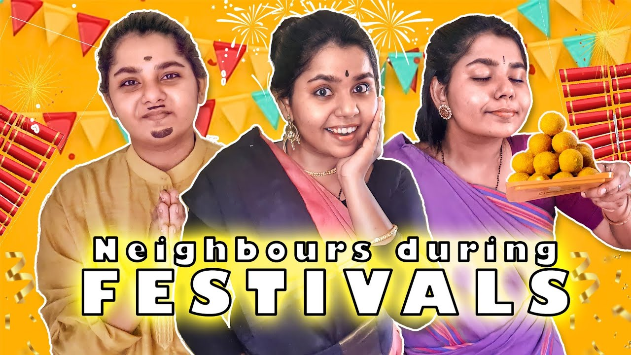 Neighbours During Festivals | Tamil Comedy Videos | Simply Sruthi