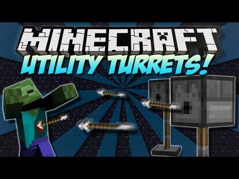 Minecraft | UTILITY TURRETS! (Automatic Defence System!) | Mod Showcase [1.4.7]
