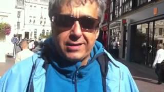LONDRA 20/09/2012 - Guido De Angelis carica i tifosi della Lazio