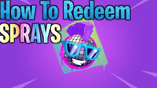 How To Redeem Fortnite Sprays, Packs, Skins, Walmart Spray