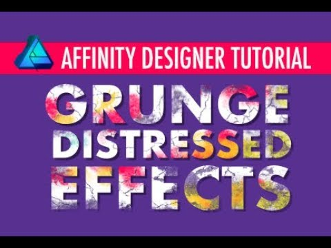 Affinity Designer - Create a grunge distressed effect