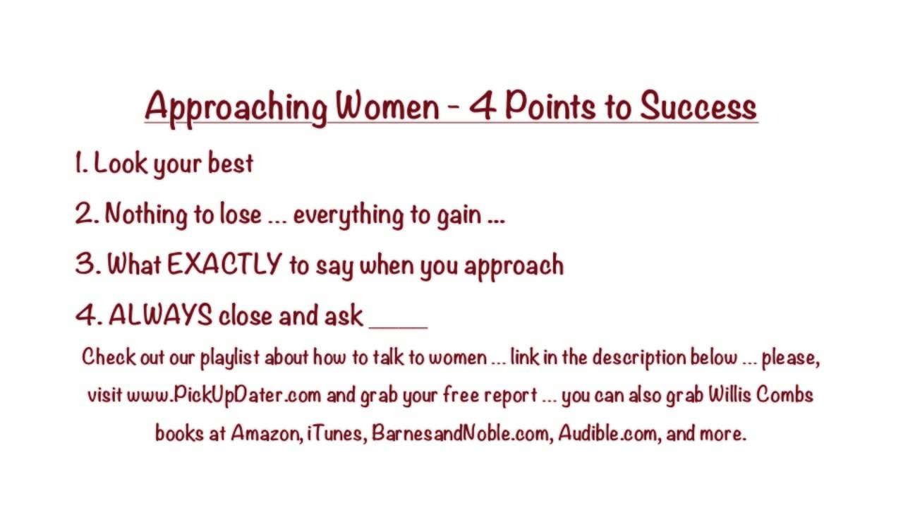 what to say when you approach a woman