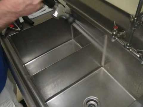 Two Sinks Drained As Demo Of Back Flow Grease Trap At Domino S Shurling Dr Macon Ga You