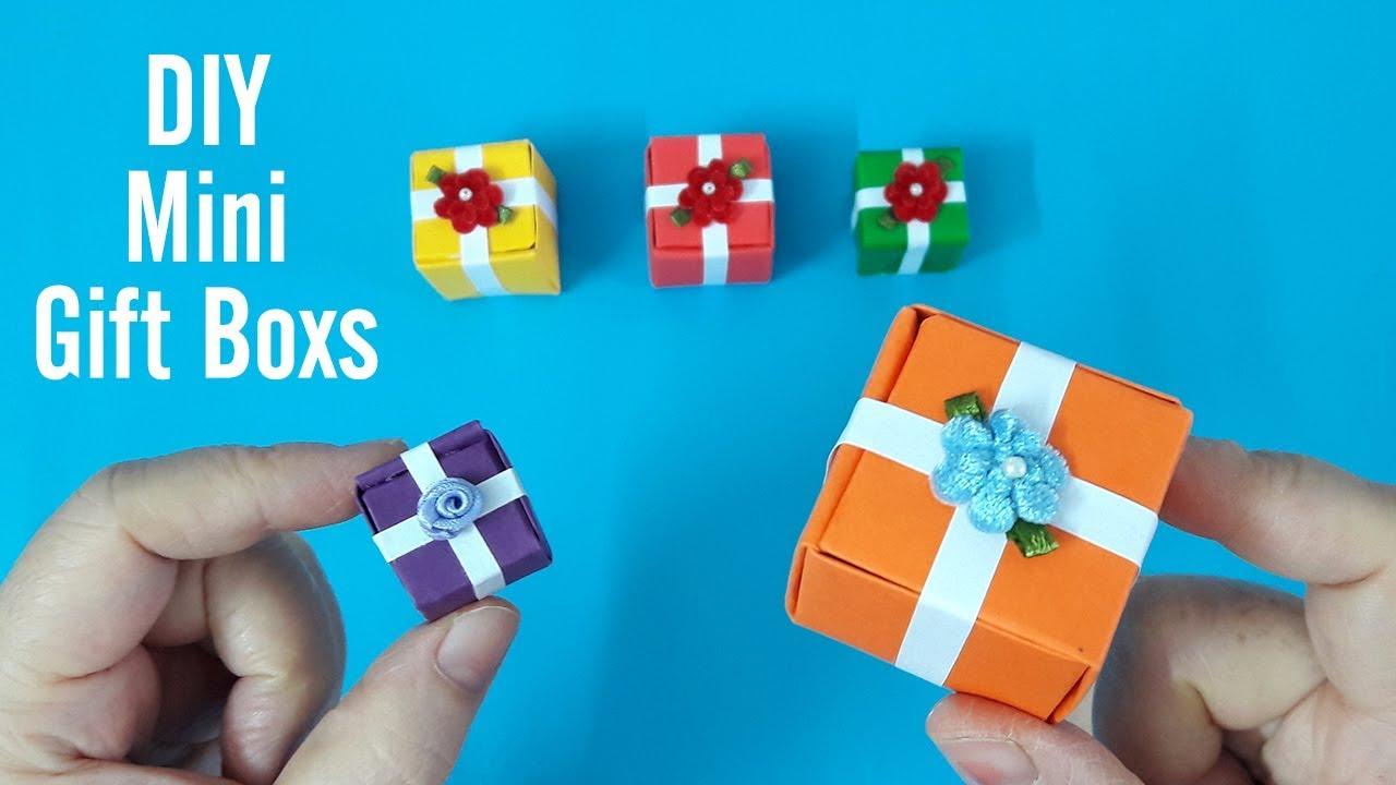 Cách làm hộp quà Mini 3D trang trí cây thông Noel | Christmas special mini gift boxes | Liam Channel
