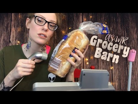 ASMR GROCERY STORE ROLEPLAY   Apathetic Cashier Scans Your Groceries