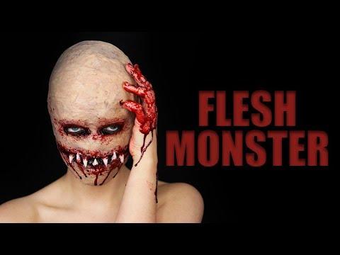 FLESH MONSTER Halloween SFX Makeup Tutorial