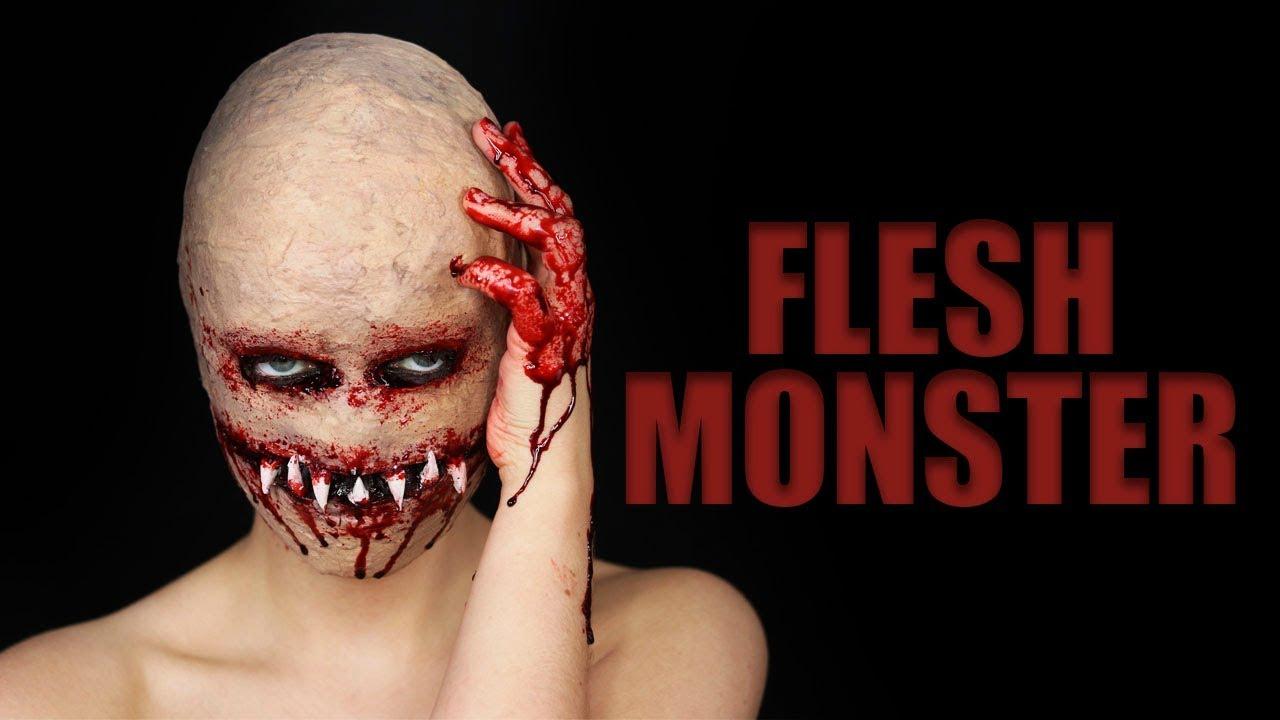 Flesh monster halloween sfx makeup tutorial youtube flesh monster halloween sfx makeup tutorial baditri Images
