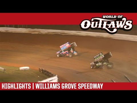 World of Outlaws Craftsman Sprint Cars Williams Grove Speedway July 20, 2018 | HIGHLIGHTS