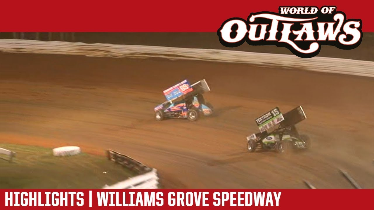 world-of-outlaws-craftsman-sprint-cars-williams-grove-speedway-july-20-2018-highlights