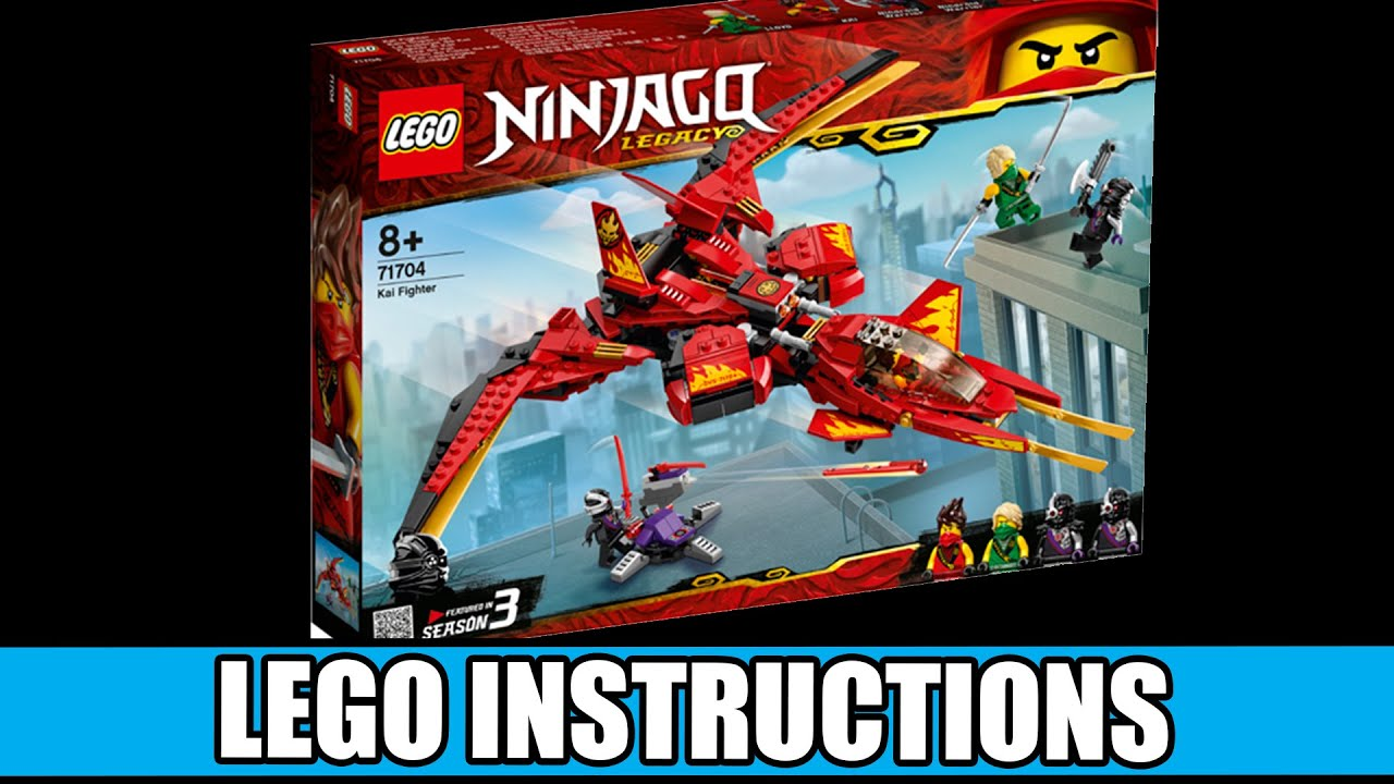 Lego Instructions How To Build Lego Kai Fighter 71704 Lego Ninjago Youtube