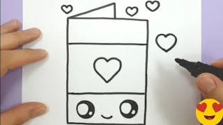 cool drawings / how to draw a cute love card for valentine / Cute drawings / butterfly drawing YouTube