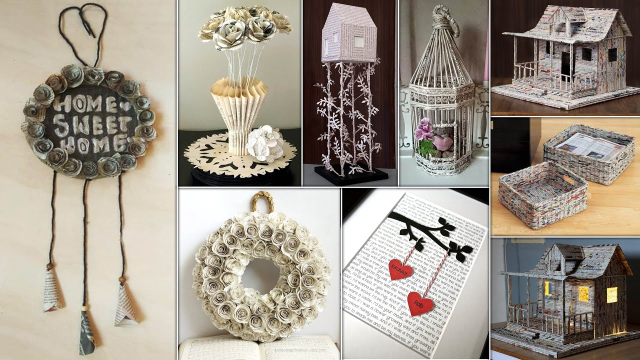 NewsPaper Craft ! Best Out of Waste Room Decor