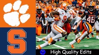 #1 Clemson vs Syracuse Highlights | NCAAF Week 3 | College Football Highlights