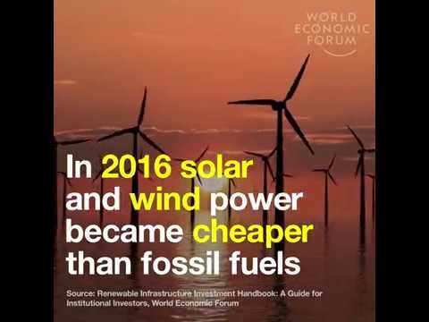 Solar & Wind Power now cheaper than fossil fuels (World Economic Forum )