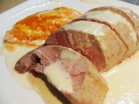 Solomillo con salsa de champi ones y cebolla doovi for Solomillo al horno facil y rapido