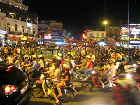 Hanoi Old Quarter Hoan Kiem District on a busy Saturday night