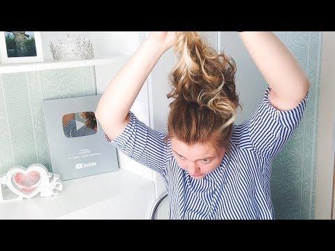 Хвост на средние волосы своими руками