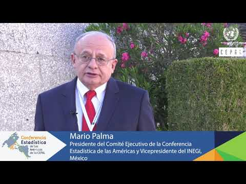 Mario Palma, Vicepresidente del INEGI de México yPresidente del Comité Ejecutivo de la CEA