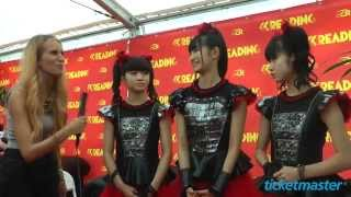 BABYMETAL talk to Ticketmaster backstage at Reading Festival 2015