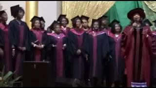 Graduation with Gospel songs.