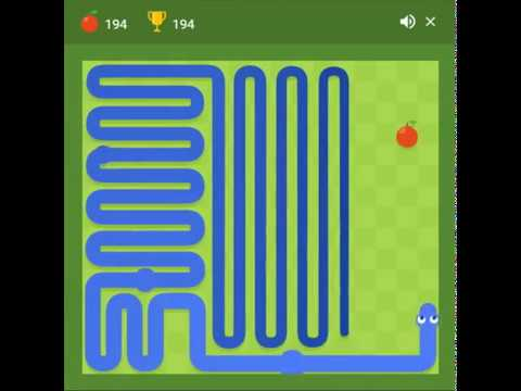 Google Snake Waz The Game Maximum Score 256 Points Full Gameplay Record Perfect Youtube