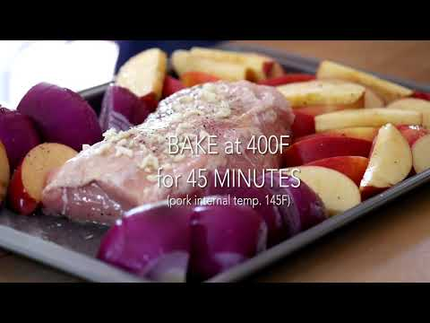 Roast Pork Loin with Apples and Onions Recipe Video