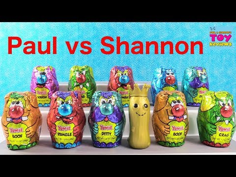 Paul vs Shannon Yowie Surprise Egg Hidden Toy Challenge Review | PSToyReviews