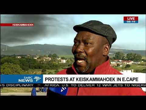 Protest at Keiskammahoek in Eastern Cape