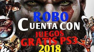 ROBO CUENTA CON JUEGOS GRATIS DE PS3  (COMPARTO) 2018