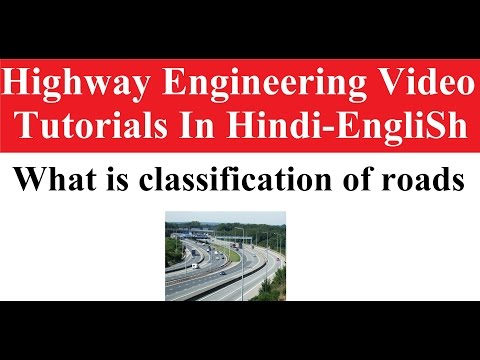 what is classification of roads|| Highway Engineering Hindi video tutorials || #subscribe