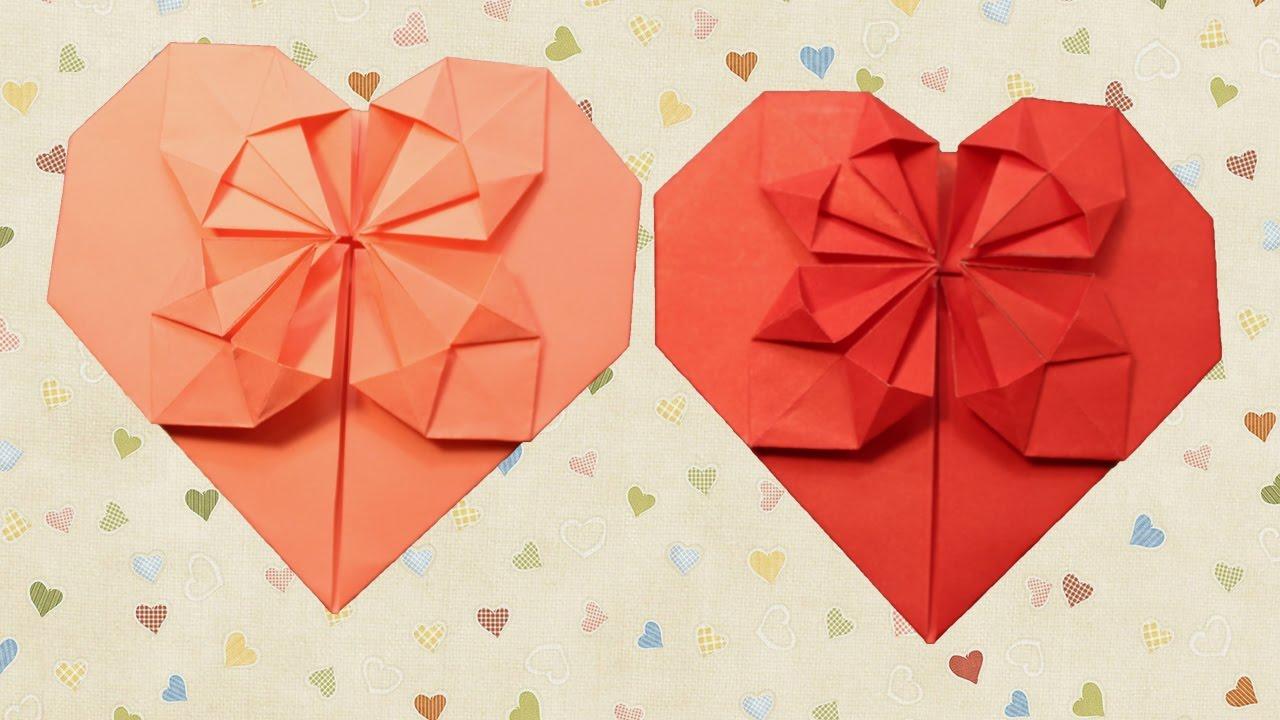 Сердце в сердце из бумаги своими руками
