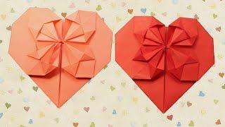 Сердце из бумаги оригами /как сделать своими руками/Papercraft Gear Heart origami