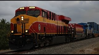 GE and EMD Locomotives Rumble across the Florida East Coast Railway