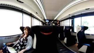 【360度動画】京阪8000系 プレミアムカー報道公開