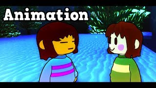 Frisk Meets Chara! Funny Cinematic Undertale AU Animation Roleplay