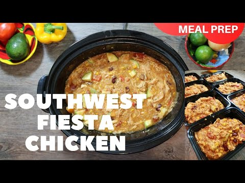 Southwest Chicken Crockpot Casserole Recipe How To Slow Cooker Mexican Chicken and Rice Meal Prep
