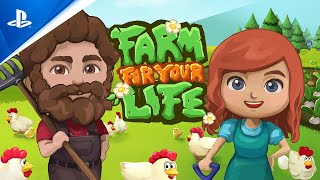 Farm for your Life - Release Date Announcement Trailer | PS5, PS4