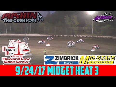 LaSalle Speedway - 9/24/17 - Midgets - Heat 3