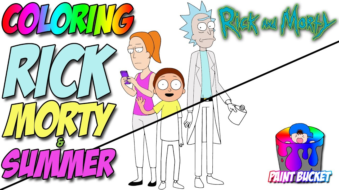 Rick And Morty Coloring Page Cartoon Work Coloring Book For