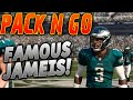 FAMOUS JAMEIS! THROWING DOTS! | PACK N GO! EPISODE 4! | MUT 16 PACK N PLAY