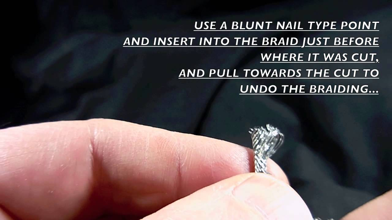 Stephens Design Pickups - How To Strip Braided Shield Wire - YouTube