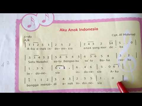 "NOTASI LAGU ""AKU ANAK INDONESIA"""