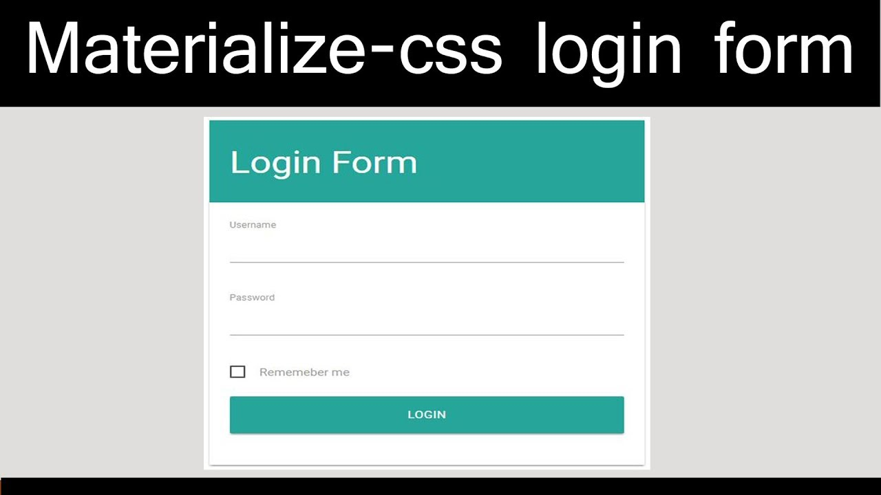 Materialize Css - responsive login form