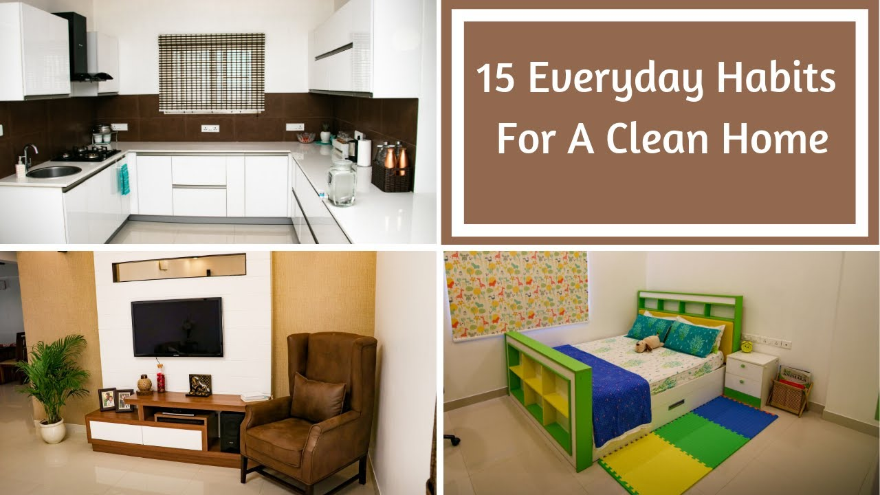 15 Everyday Habits For A Clean Home