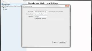 Thunderbird 5.0 (Free e-mail client) using Hotmail and Yahoo