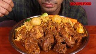 Maasive Egg Biryani with spicy chicken masala-mukbang eating show lovetoeat