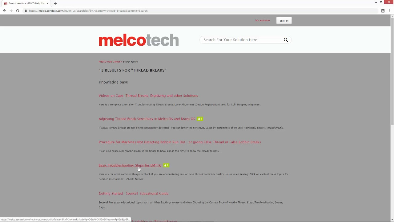 Melco Technical Support Knowledgebase