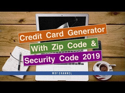 real credit card numbers that work with security code and expiration date 2020 and zip code