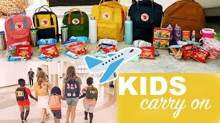 WHAT TO PACK: KIDS CARRY ON || Flying with 7 Kids!